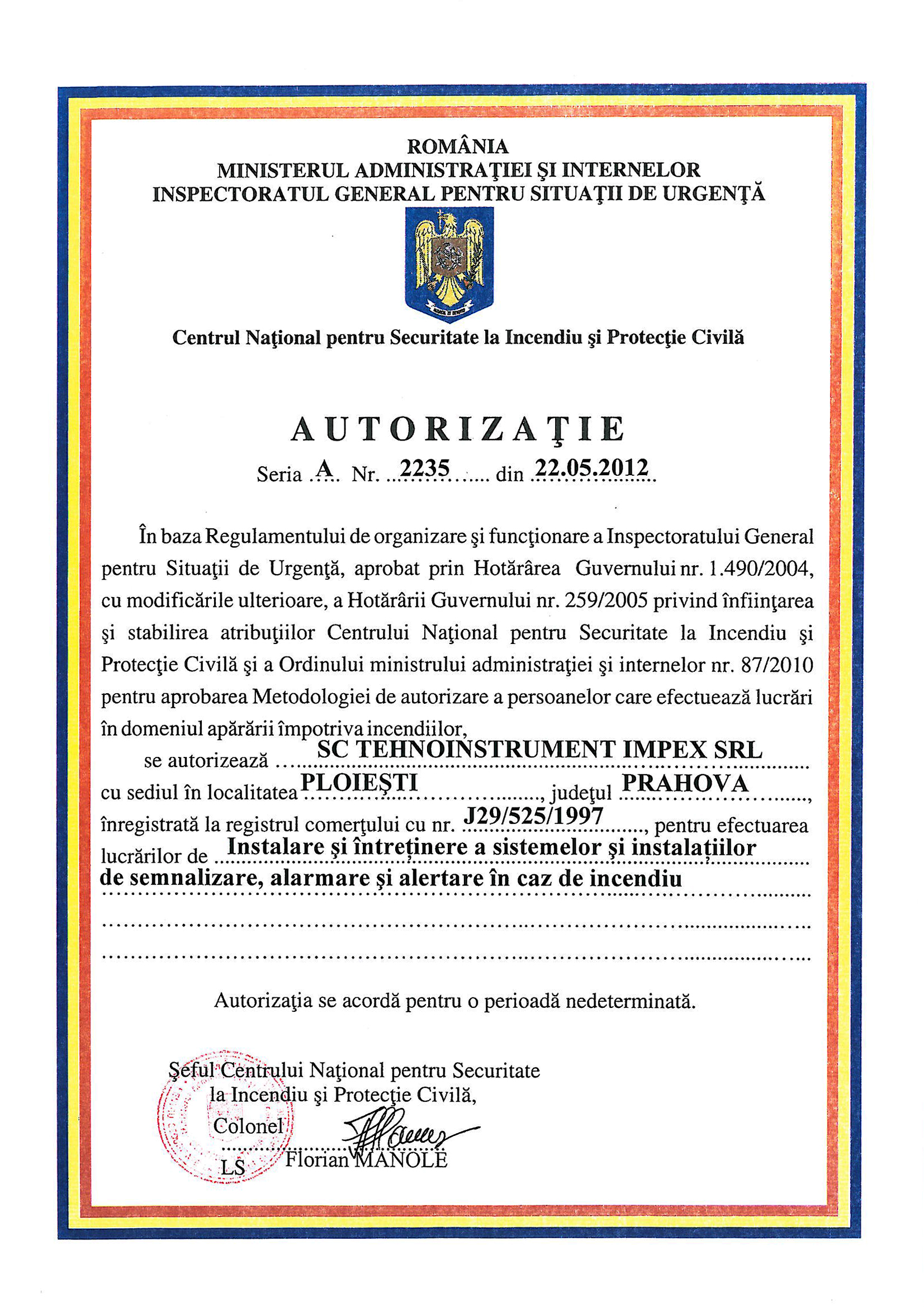 Autorizatie IGSU